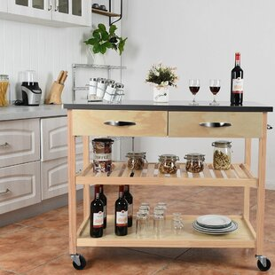 Gillies Rolling Kitchen Cart Charlton Home