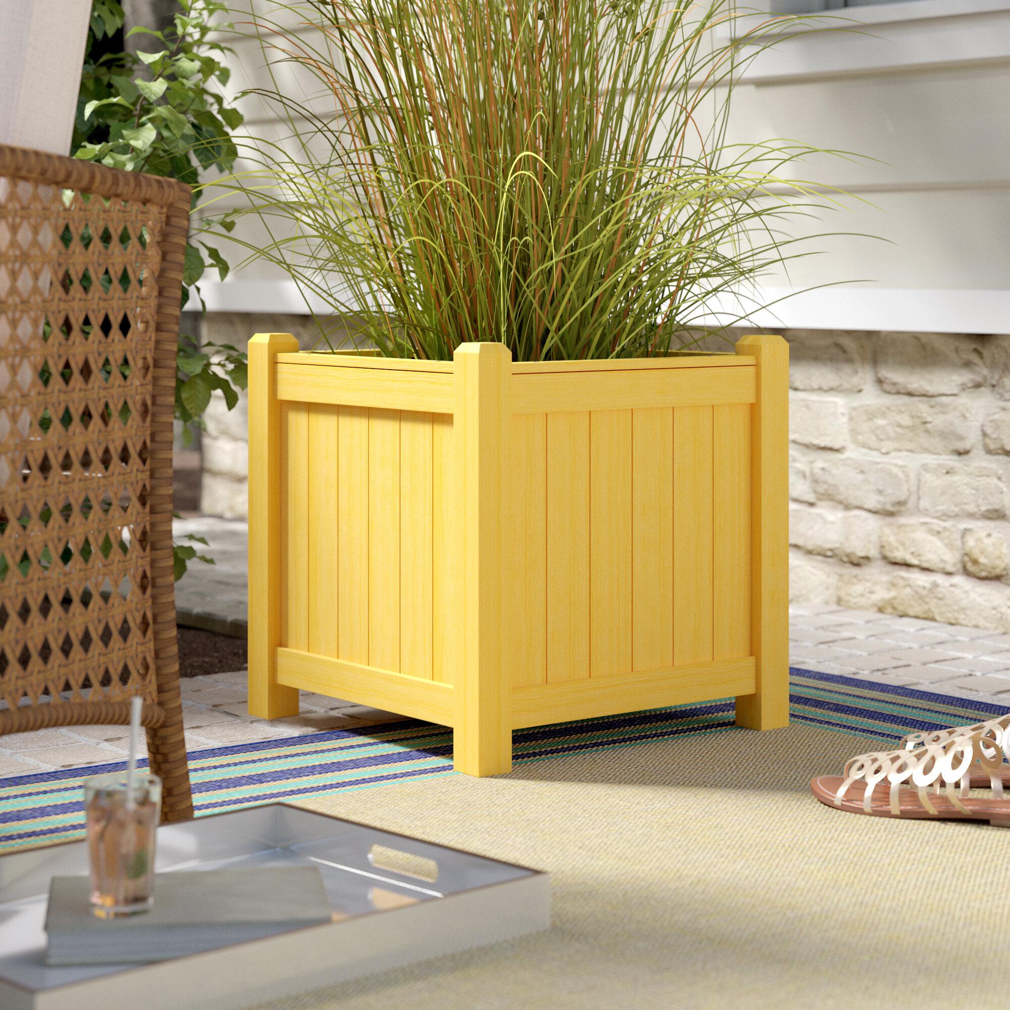 Highland Dunes Chartier Square Wood Planter Box | Wayfair