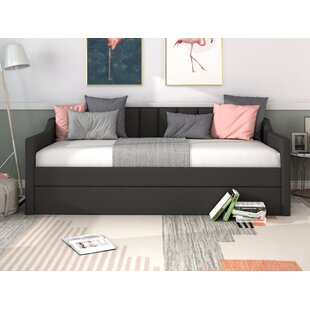 Breaux Upholstered Twin Bed with Trundle by Everly Quinn