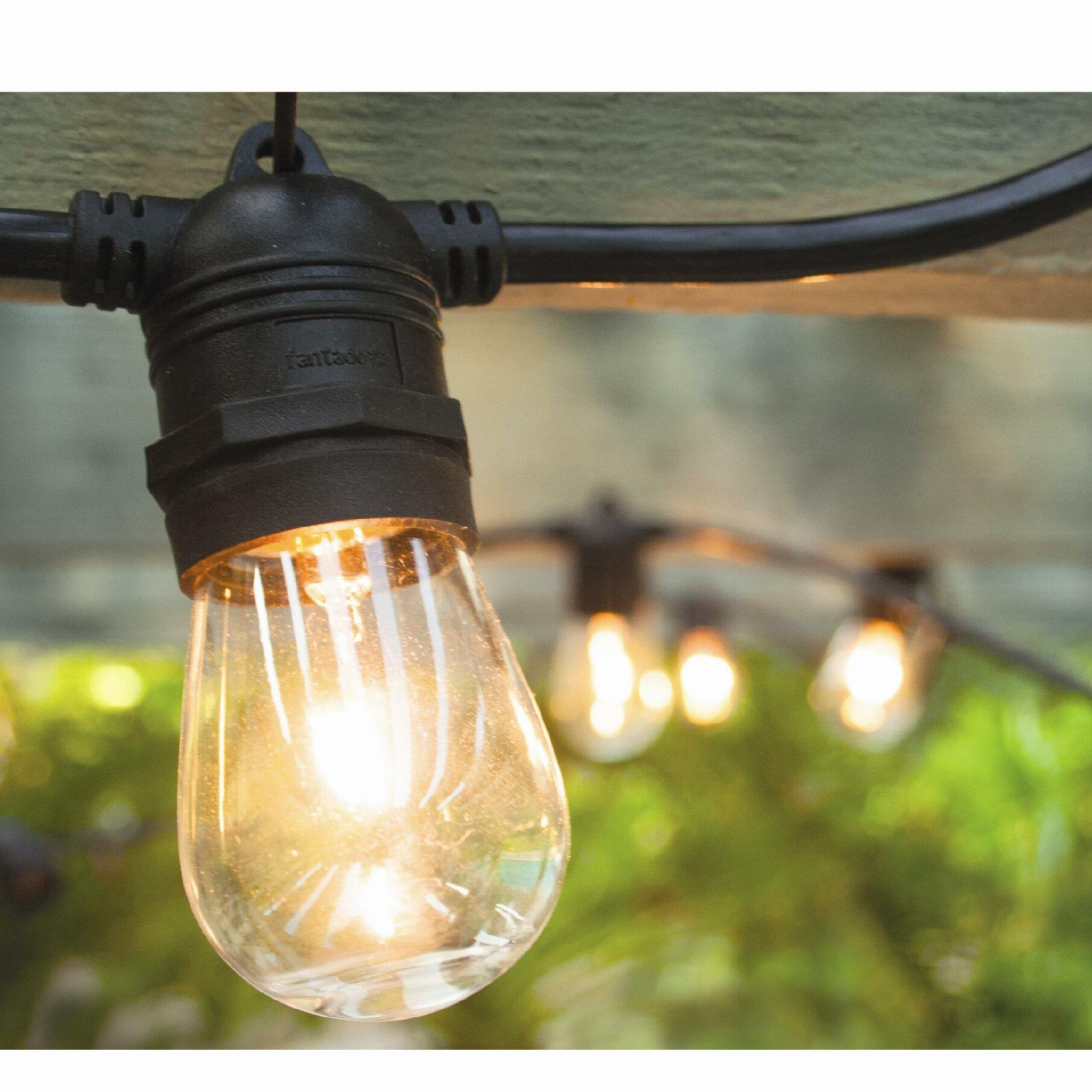 Hi Line Gift Ltd Vintage mercial Patio String Lights with 12