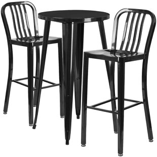 Latitude Run Sass 3 Piece Bar Height Dining Set