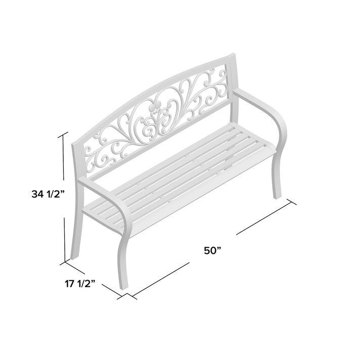 Excellent Blooming Iron Garden Bench Machost Co Dining Chair Design Ideas Machostcouk