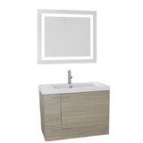 Urbain 31 Wall-Mounted Single Bathroom Vanity Set with Mirror by Orren Ellis