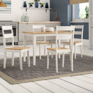 Beecher Falls Dining Set with 4 Chairs by Breakwater Bay