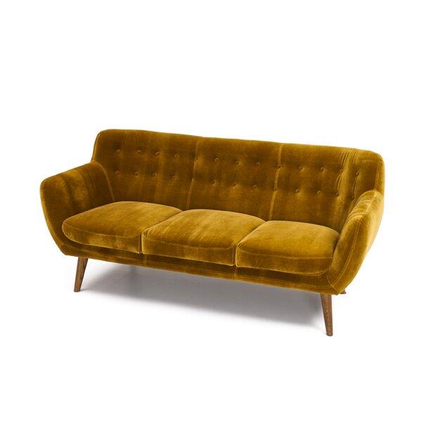 Cream Tufted Sofa   Wayfair