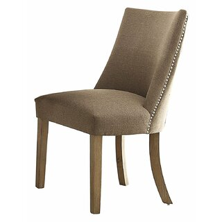 Anissa Wood and Fabric Solid Wood Dining Chair (Set of 2) by Gracie Oaks SKU:BC274128 Information