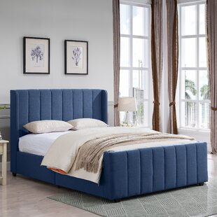 Alasdair Queen Upholstered Panel Bed by Grovelane Teen