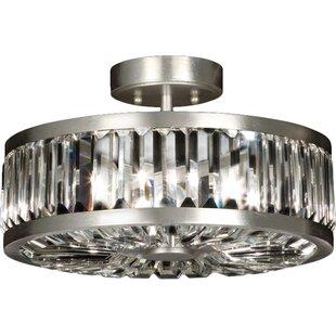 Fine Art Lamps Crystal Enchantment 4-Light Semi Flush Mount