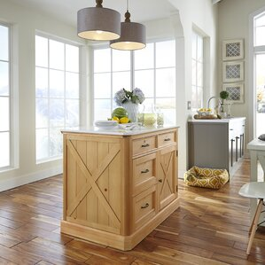 Burbury Country Lodge Kitchen Island by Loon Peak