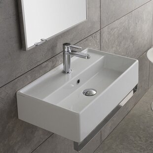Looking for Teorema Ceramic 24 Wall Mount Bathroom Sink with Overflow ByScarabeo by Nameeks