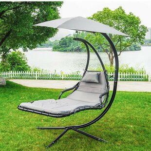 Ebern Designs Eustice Hanging Chaise Lounger with Stand
