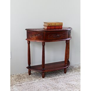 Windsor Hand Carved Wood Console Table