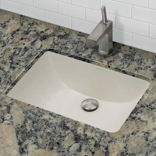 DECOLAV Classically Redefined Callensia Ceramic Rectangular Undermount Bathroom Sink with Overflow