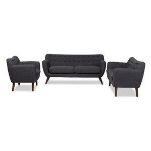 Bianca 3 Piece Living Room Set by Wholesale Interiors