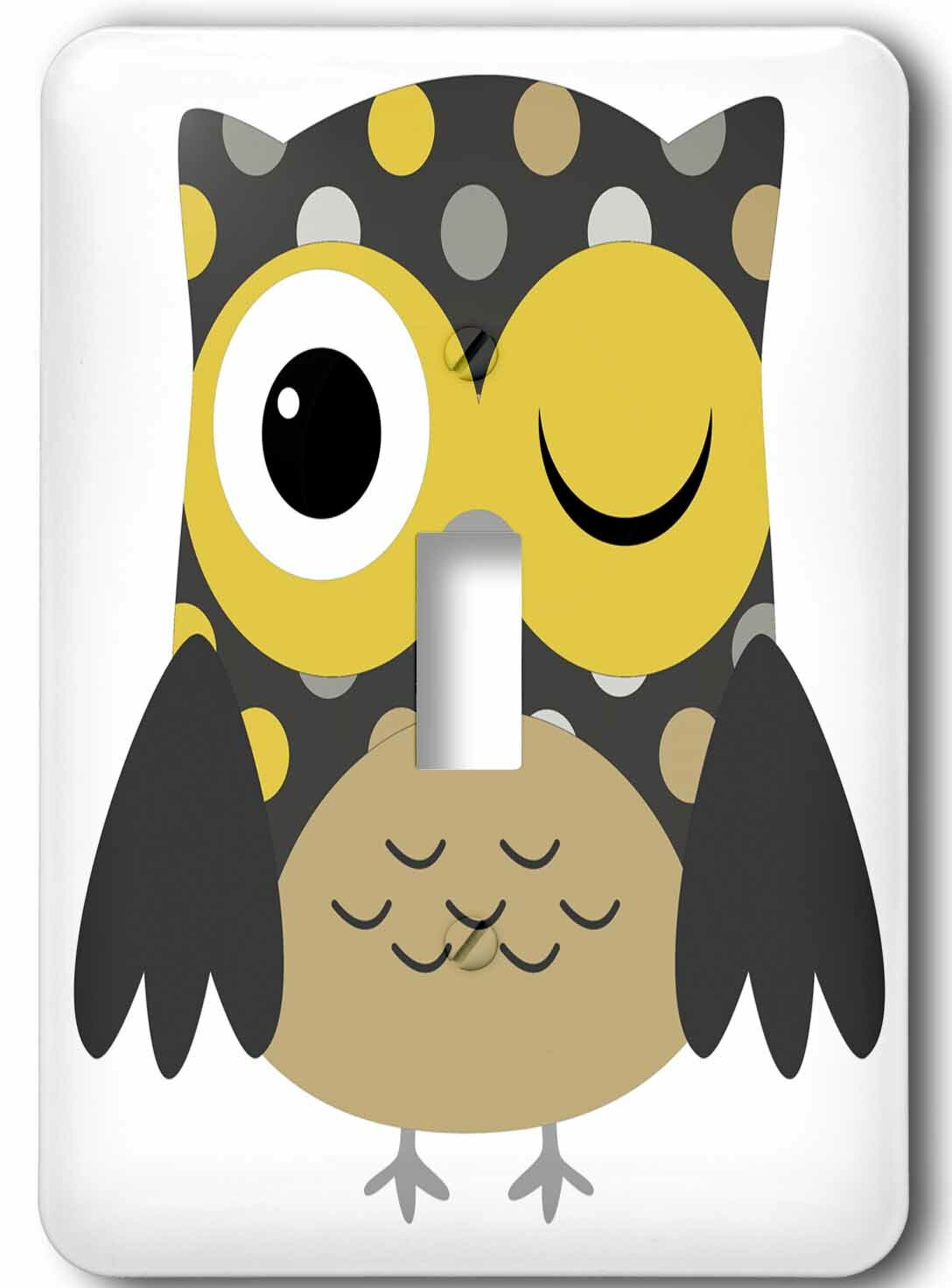 3drose Cute Owl 1 Gang Toggle Light Switch Wall Plate Wayfair