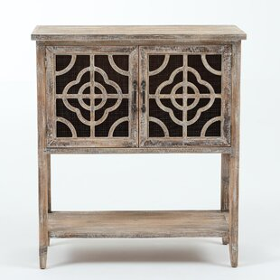 Ellianna Rustic Wood and Metal 2 Door Accent Cabinet by Bungalow Rose