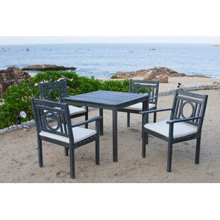 Greyleigh Caruthersville 5 Piece Dining Set with Cushions