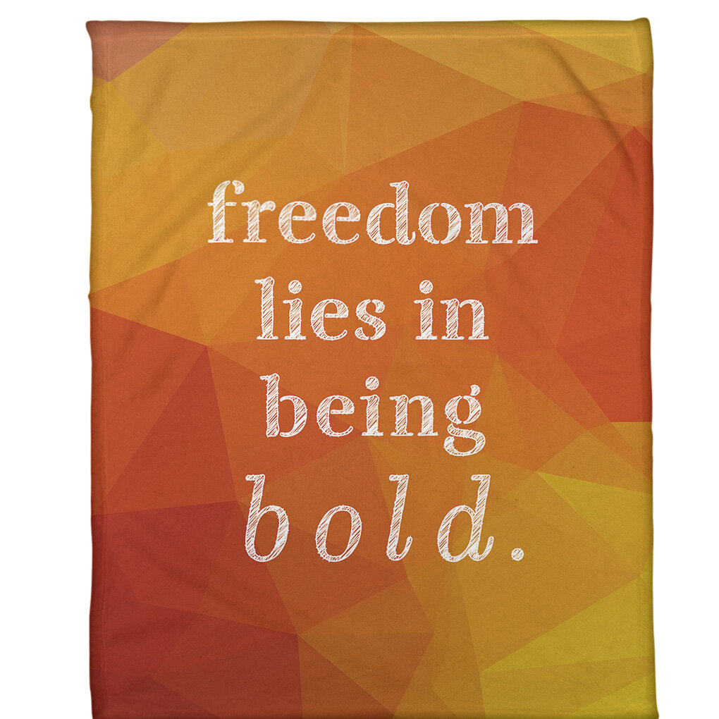East Urban Home Faux Gemstone Be Bold Inspirational Quote Fleece Blanket Wayfair