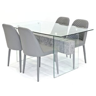 Lorraine Dining Set With 4 Chairs By Metro Lane