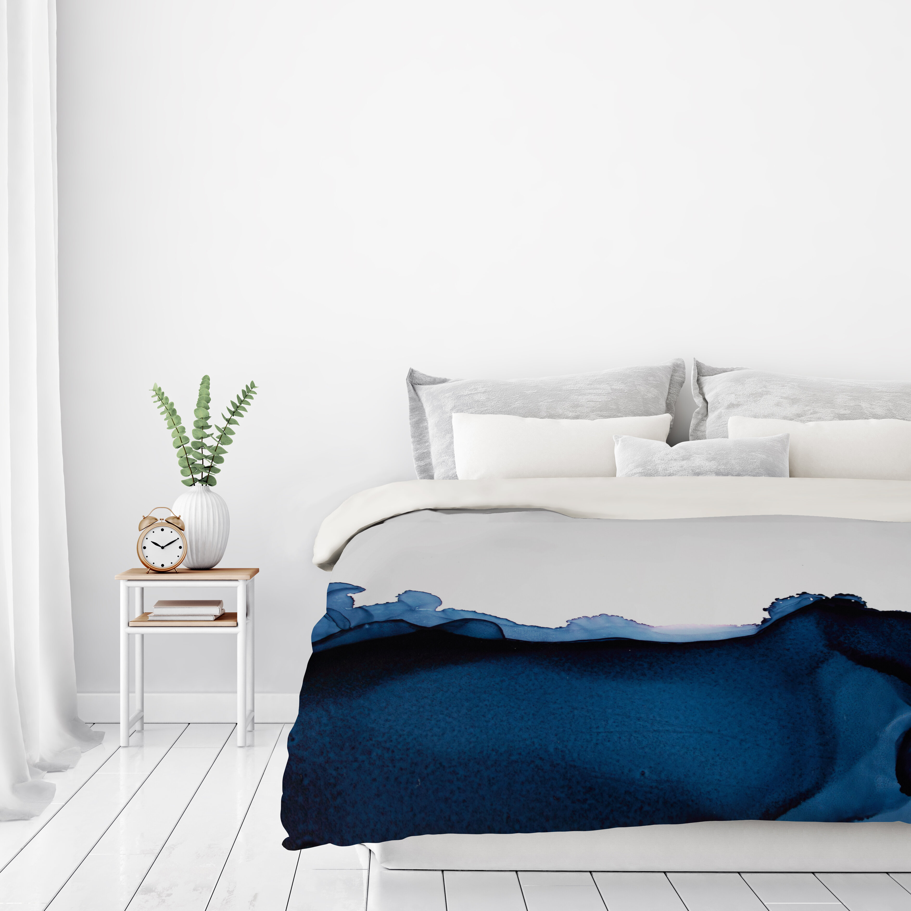 East urban home nothing but navy duvet cover wayfair