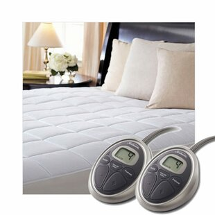SelectTouch Premium Quilted Electric California King Cotton Heated Mattress Pad