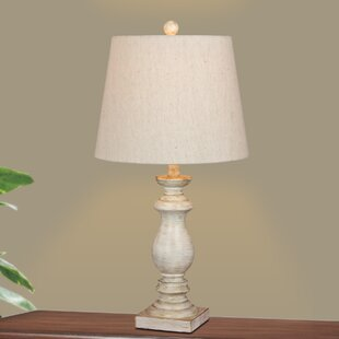 Compare prices Roxann Modern Balustrade Column 26 Table Lamp (Set of 2) By Ophelia & Co.