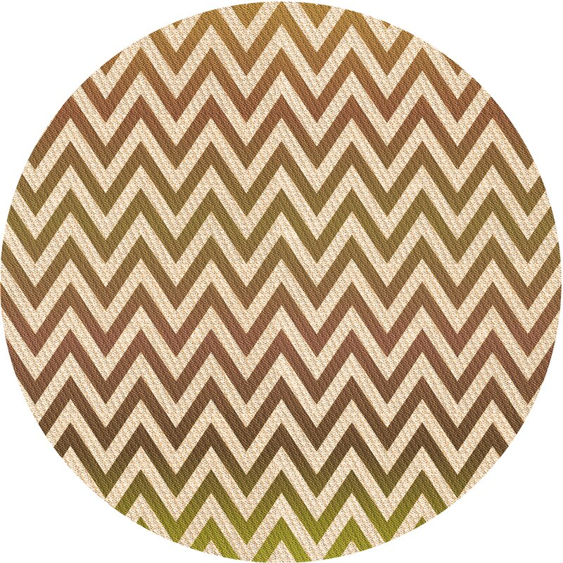East Urban Home Chevron Brown Area Rug Wayfair
