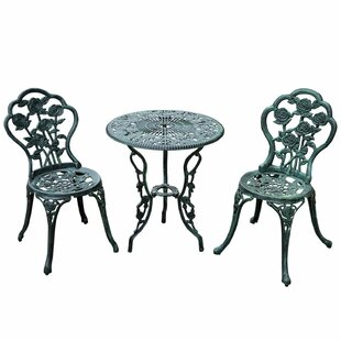 Outsunny 3 Piece Bistro Set