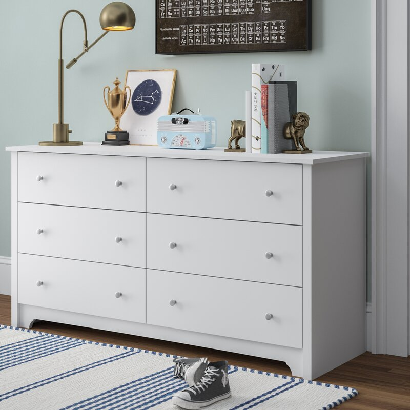 Andover Mills Olympia 6 Drawer Double Dresser Reviews Wayfair