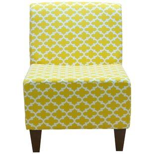 Fox Hill Trading Penelope Armless Fulton Corn Yellow Slipper Chair