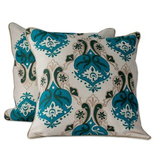 Autumn Muse with Appliqué and Embroidery Cotton Pillow Cover (Set of 2)
