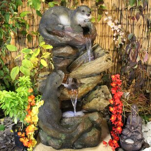 Curious Otters Resin Water Feature With Light By Sol 72 Outdoor