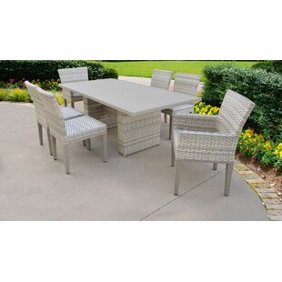 TK Classics Fairmont 7 Piece Outdoor Patio Dining Set with Cushions