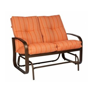 Cayman Isle Glider Bench with Cushions Woodard