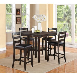Tahoe 5 Piece Counter Height Dining Set by Crow..