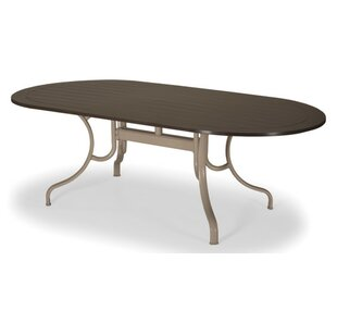 Marine Grade Polymer Oval Deluxe Dining Table