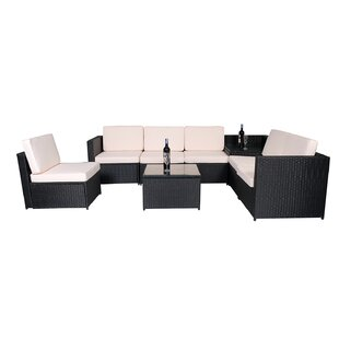 Pratt 8 Piece Sectional Seating Group with Cushions