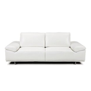 Shop Roxanne Leather Reclining Loveseat by Bellini Modern Living