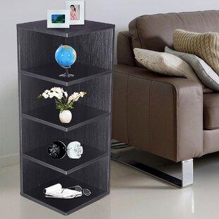 Adeco Trading Corner Unit Bookcase