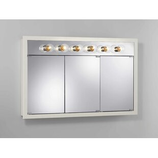 Reviews 48 x 30 Surface Mount Medicine Cabinet with Lighting By Jensen