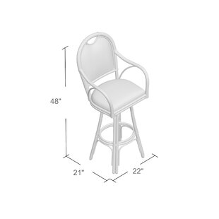 Ricca 30 Swivel Bar Stool Bay Isle Home