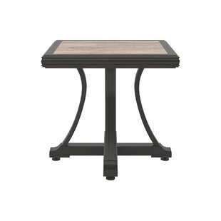 Jameson Stone/Concrete Side Table by Bayou Breeze