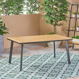 Lundell Solid + Manufactured Wood Dining Table