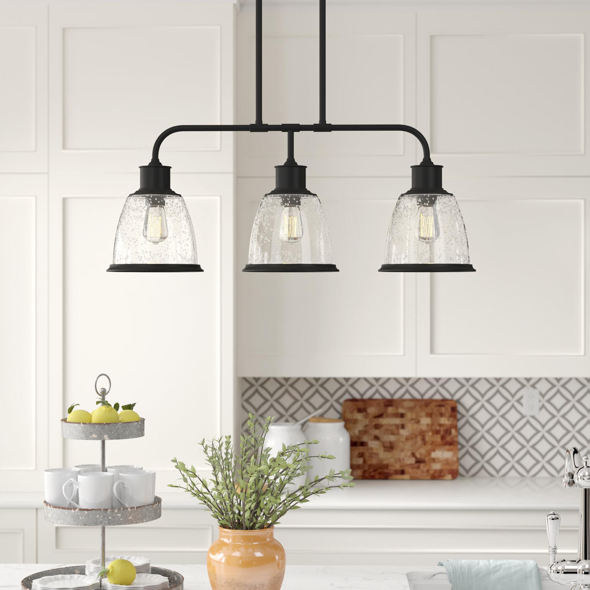 Ambler 3 Light Kitchen Island Bell Pendant Reviews Birch Lane