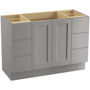 Poplin? 48 Vanity with Toe Kick, 2 Doors and 6 Drawers by Kohler