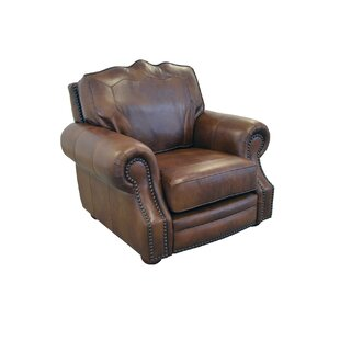 Winchester Genuine Top Grain Leather Club Chair by Westland and Birch