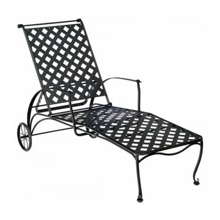 Maddox Reclining Chaise Lounge by Woodard