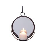 Metal Sconce with Mirror