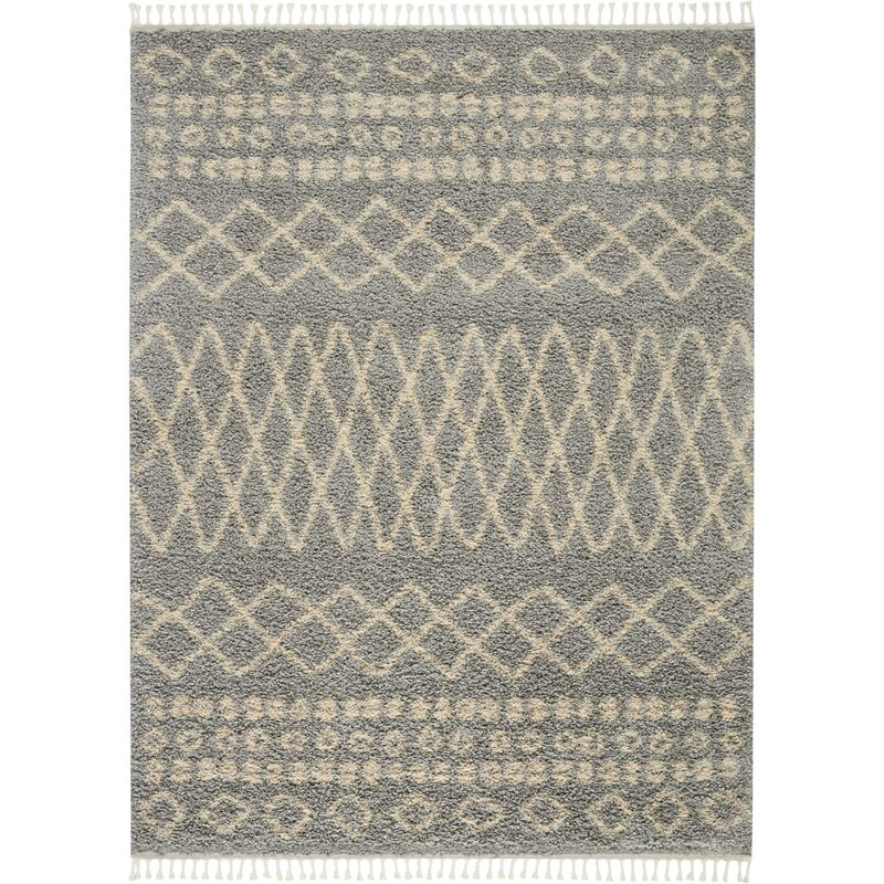 Iverson Moroccan Tribal Gray/Beige Area Rug