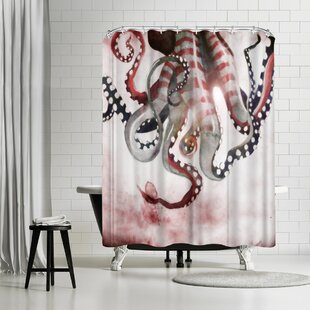 Sam Nagel Sea Monster 2 Shower Curtain